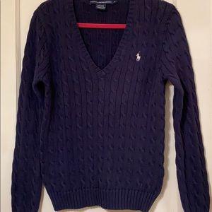 Ralph Lauren Sport V Neck Long Sleeve Sweater